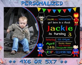 Superhero / Superhero Invitation / Superhero  Birthday / Superhero Party / Superhero Girl Printable / Superhero Birthday