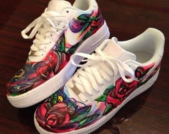 Custom Solar Flare Galaxy Nike Air Force 1 Hand Painted