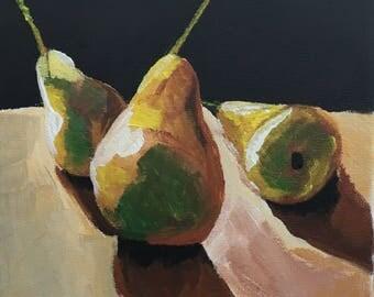 Birne , Acrylics on Canvas 20x20