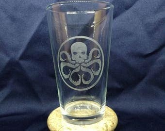 Hydra etched glass