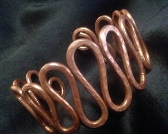 Hammered Copper Cuff Bracelet - Custom Sizing!