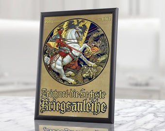 Printable Wall Art - German Knight on the horse WW1 Memorabilia, digital downloads, instant download, digital posters, digital prints, decor