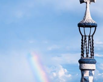 A rainbow from Park Guell Barcelona
