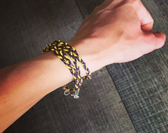 Minnesota Vikings bracelet ~ Purple and yellow braided bracelet