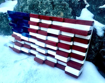 """American Flag, America, Flag, Military, Stars and Stripes, Reclaimed, Distressed, Wood art, Wall art, Guy gift, 4th of July, """"Defined"""""""