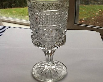 A Wonderful Anchor Hocking Claret Wine Glass in the Wexford Pattern