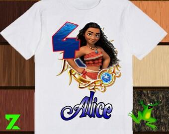 Moana Iron On Transfer, Moana Iron On Shirt, Moana Birthday Girl Iron On Transfer, Digital File Only, Personalized
