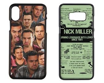 New Girl - Nick Miller Phone Case, Nick Miller Iphone x Case, Nick Miller Iphone 7 Plus Case, Johnson, Miller Case, Samsung Galaxy S8 Case