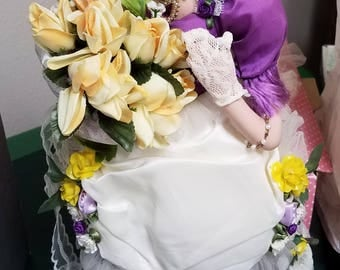 """18"""" Porcelain Doll Yellow Rose of Texas"""