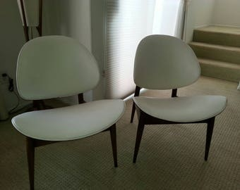 Pair Of Kodawood Clamshell Chairs