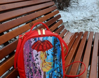 beadwork, embroidery bag, handbag, handmade, ukraine embroidery, leather bag ukraine bag, cross stitch bag