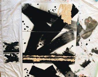 Brush Strokes Acrylic Painting