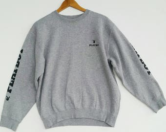 Vintage playboy big logo sweatshirt 90's