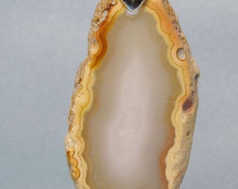 Sliced Agate Pendant for necklace or decoration