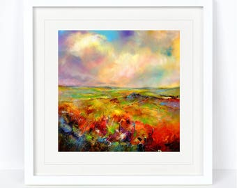 Towards Carl Walk - Limited Edition Derbyshire Print from an Original Sheila Gill Watercolour. Fine Art,Giclee Print,Hand Painted,Home Decor