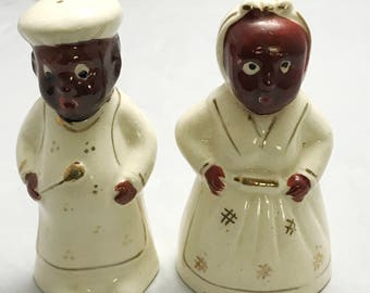 "Nice Set of 4.5"" Americana Salt and Pepper Shaker Set - Japan"