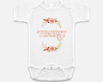 Cute Feminist Print - Baby Onesie - 3-6 months - 6-12 months - 12-18 months