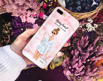 messy buns getting stuff done case,  iPhone 8 Case iPhone X Samsung S8 Galaxy S7 E, iPhone 6 Plus, iPhone 7 Case iPhone 8 Plus Samsung S6