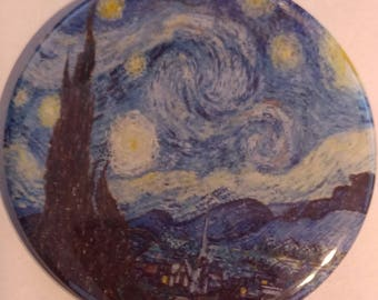 Starry Night 2.25 Inch Wearable Button