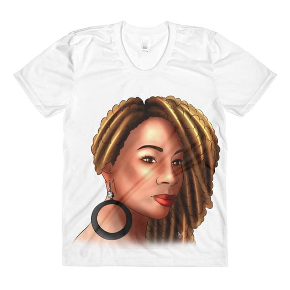 Golden Locs Women's Sublimation crew neck t-shirt