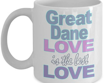 Great Dane Mug - Great Dane Gift - Love Great Danes Gifts - Great Dane Owner Gift - Black White Ceramic Coffee Tea Cup 11 oz 15 oz