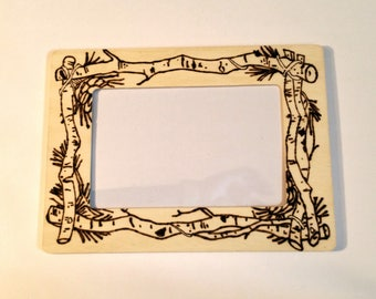 Branches Woodburnt Picture Frame 4x6