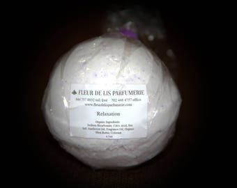 Relaxation All Natural and Organic Handmade Bath Bomb 4.5 oz