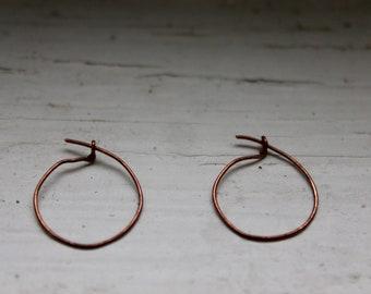 Copper wire Earrings-earring oxidised copper wire
