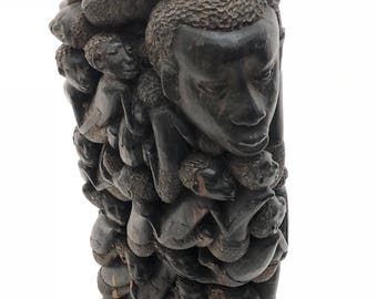 Ebony African Wood Carving