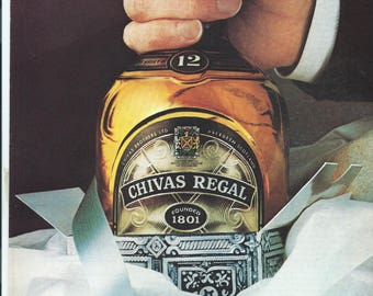 Vintage 1979 Chivas Regal It's Better to Give Than to Receive Print Ad