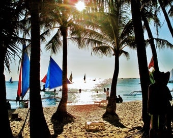 Philippines Beach Print, Boracay Beach Print, Philippines Photography, Beach Photo