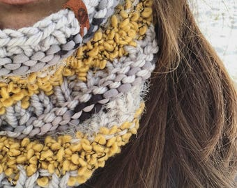 textured adult knit cowl