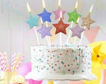 8 Set Stars Candle Pop's