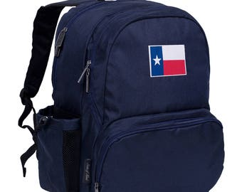 State of Mind Texas Flag 17 Inch Backpack