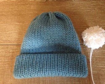 Baby's pure wool beanie hat.