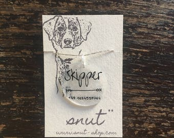 Karma, Snuton, individual identification mark, dog tag, id tag