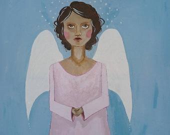Angel painting.