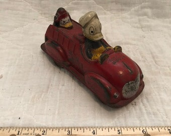 1930s Vintage Mickey Mouse Fire Truck made by The Sun Rubber Co