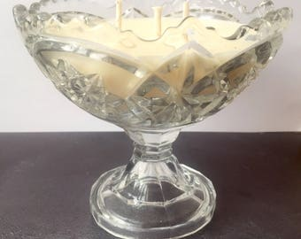 Vintage Glass Candle - Bergamot & Fresh Cotton  Fragrance