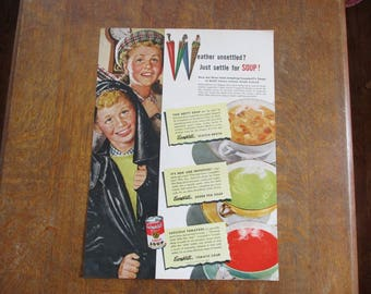 1947 Original Vintage Campbell's Soup ad