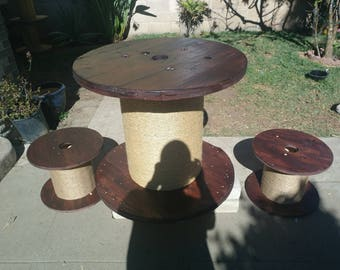 Unique table with two stools