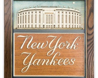 Unique 3D Wood Plaque - New York Yankees / Yankees Stadium