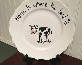 Custom Painted Decorative Plate