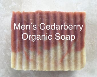 ORGANIC Bar SOAP MEN'S Cedarberry — Handmade Soap / Natural Soap / Organic Soap / Soap for Him / Soap Gift for Him / Woodsy Masculine Scent