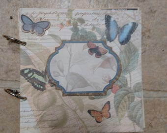 butterfly and garden themed cardboard blank book