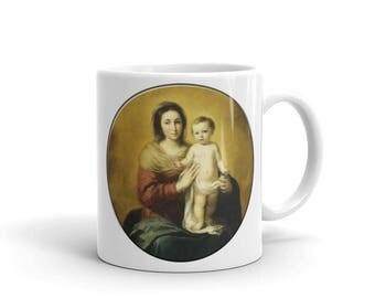 Religious Mug - Virgin and Child Mug - 2 sizes - Madonna and Child - Religious gifts - Catholic gifts - Catholic mugs
