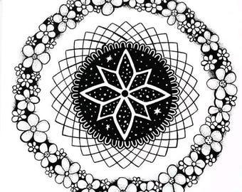 Hand drawn Mandala - original