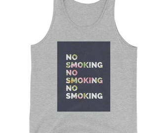 NO SMOKING Tank Top - Athletic Heather Gray - Aggressive Tops