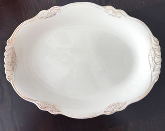 Homer Laughlin Virginia Rose Platter China Vintage Antique Wedding Gift, Farmhouse