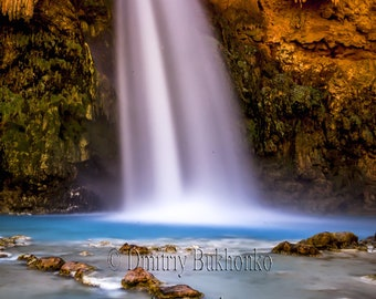 Waterfall Photography, Havasupai Falls Prints, Landscape Wall Art, Canvas Prints, Travel Photography, Nature Prints